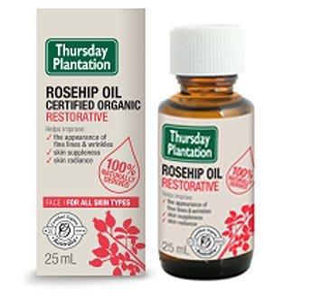 【澳洲Thursday Plantation】星期四農莊100%有機玫瑰果油Rosehip 25ml超新鮮現貨滿額免運