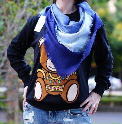 Gucci Kids 343358 GG jacquard stole 羊毛絲 GG 披肩 粉藍/粉紅漸層 現貨