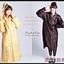 BrightDay風雨衣連身式 -  日系印花前開款...