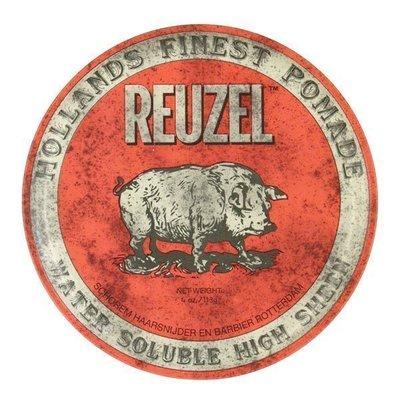 便宜生活館【造型品】REUZEL 紅豬油 髮油 水洗式油性髮油 4oz(113G) 另有粉紅豬/藍豬 (可超取)