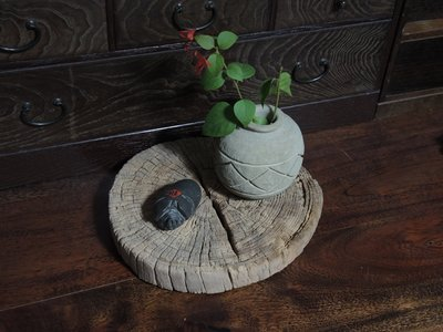 小石雕與風化木