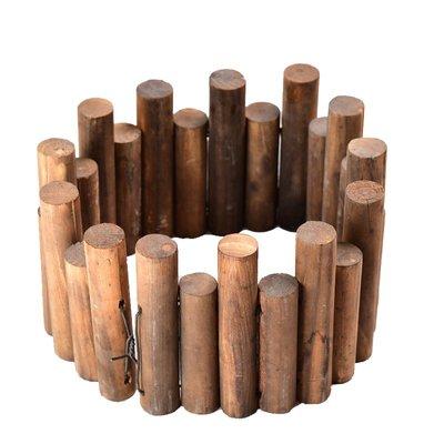 原木圍欄裝飾室內戶外庭院碳化圍欄護欄花園實木柵欄圓木樁木籬笆小豬佩奇