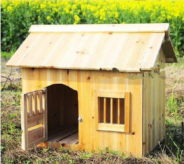 杉木狗屋寵物木屋 木房子 戶外狗房子 狗屋 狗窩狗籠子小型犬房子