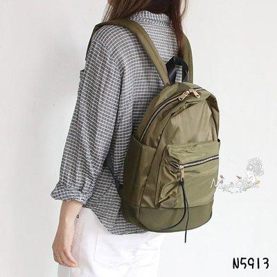 MagicQueen㊣韓國精品服飾.DAAD前後拉鍊口袋設計尼龍後背包/預購