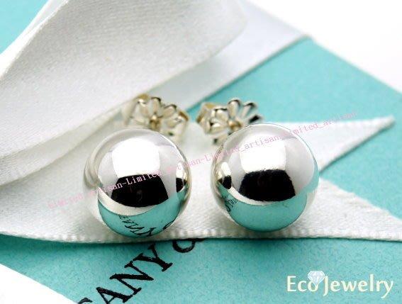 《Eco-jewelry》【Tiffany&Co】經典HardWear系列圓珠針式耳環 純銀925耳環~專櫃真品已送洗