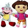 【卡漫迷】 Dora & Boots 玩偶 二入組 30公...