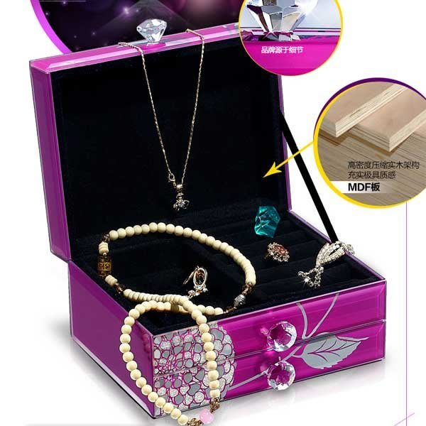 5Cgo【鴿樓】會員有優惠  16604034358 騎士與公主 歐式複古高檔玻璃首飾盒收納盒韓國生日禮物盒 飾品盒