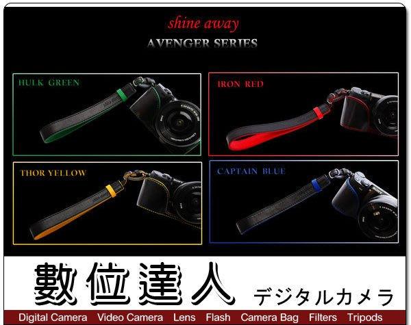 【數位達人】 shine away 真皮相機手腕帶 加長型 復仇者聯盟 / Canon EOS M Nikon V1 J1 Sony RX1