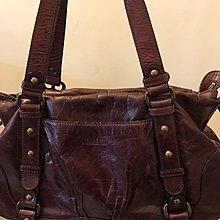 ANNA SUI日本帶回專櫃原價一萬紫咖啡龐克搖滾精神真皮小羊皮革 2way率性休閒隨身斜背包
