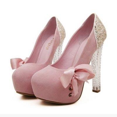 圓頭高跟鞋 水晶婚鞋-淑女時尚好穿熱賣女鞋子3色73e10[獨家進口][米蘭精品]