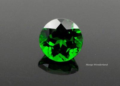 GA491 《透輝石Chrome Diopside》天然綠色寶石 1.69ct 《圓形切割7.1m》VS1
