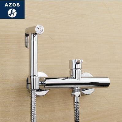 【優上】冷熱增壓手持花灑婦洗器淋浴噴頭馬桶閥龍頭套裝「B款圓形」