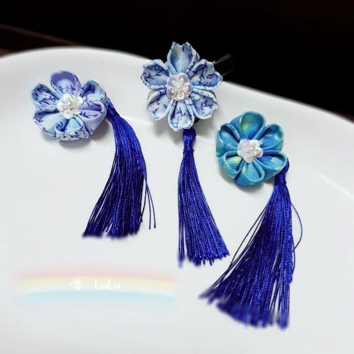 髮飾 批發 櫻花 和風花 緞帶花 配件 飾品 髮夾 短夾 限量 手工訂製 免運