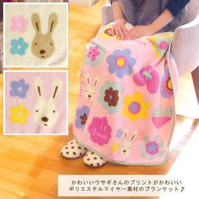 嘉芸的店 砂糖兔毯子 粉色 黃色 花朵...
