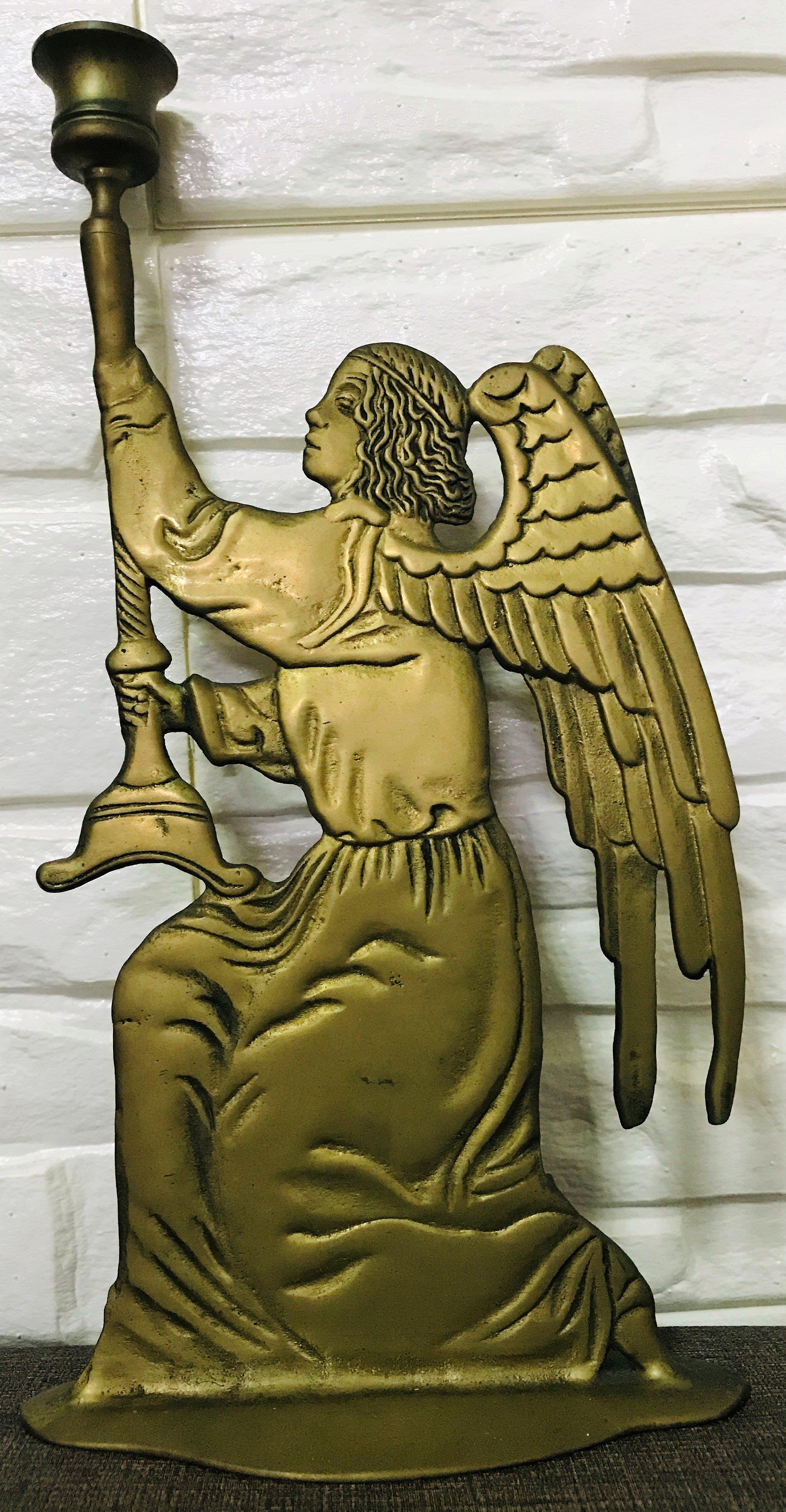 銅製藝品~藝術燭台