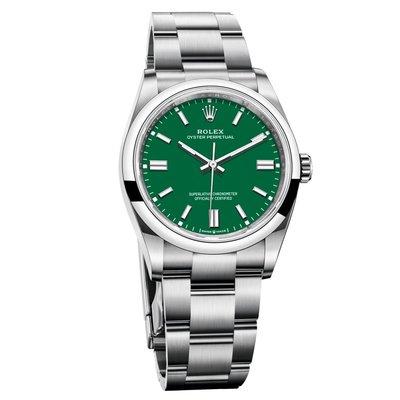 【玩錶交流】全新品 ROLEX 124300 Oyster Perpetual 綠面 41mm 2021/2月保卡