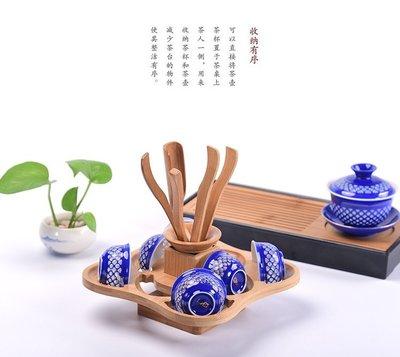 【自在坊】竹製杯架 六君子茶杯展示架 茶杯收納架 六君子收納架 茶具 茶道用具  【全館滿599免運】