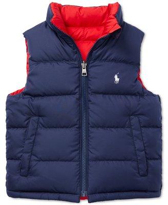 【Polo Ralph Lauren】RL 大男童 羽絨外套 背心外套 刺繡小馬 防風保暖外套 夾克 兩面穿