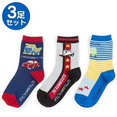 Sanrio 日本正版 Runabouts 兒童中筒襪 3對裝 (19-21cm)