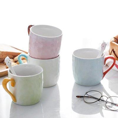 玻璃杯 馬克杯 牛奶杯 咖啡杯 水杯寶寶熊清新簡約陶瓷馬克杯辦公室水杯情侶對杯牛奶咖啡杯子