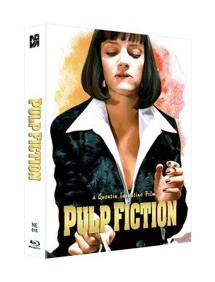 毛毛小舖--藍光BD 黑色追緝令 雙碟全紙盒限量鐵盒版A款(中文字幕) Pulp Fiction 昆汀塔倫提諾