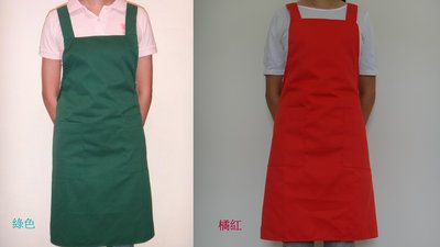 巨星專業圍裙 工作裙 雙層兩個口袋 T/C棉表布