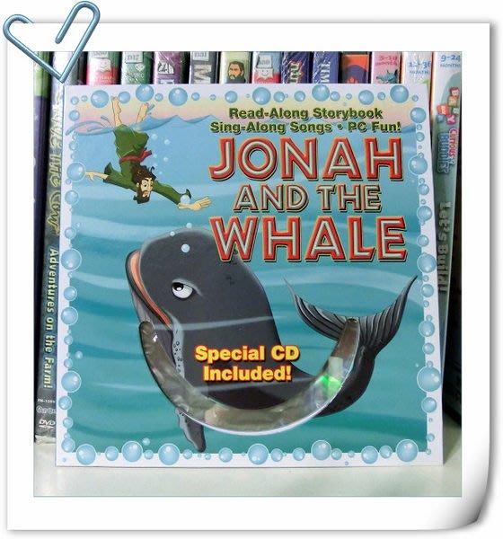 *【兒童聖經故事+CD】*小pen外文~Jona and the whale聖經故事開啟英語學習