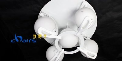 【挑椅子】附遙控器 jump ceiling lamp「跳躍吸頂燈_5燈款 」,復刻版。002-170