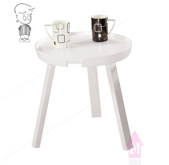 【X+Y時尚精品傢俱】現代客廳系列-伍地 圓型小茶几.白栓木實木桌腳.摩登家具