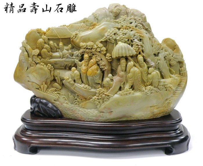 【喬尚拍賣】精品壽山石雕 = 君子戲遊 = 藏家釋出