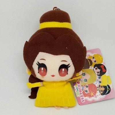 【UNIPRO】 美女與野獸 貝兒 3.5mm 手機 平板 Q版 絨毛防塵塞 吊飾 玩偶 日貨 迪士尼公主 Belle