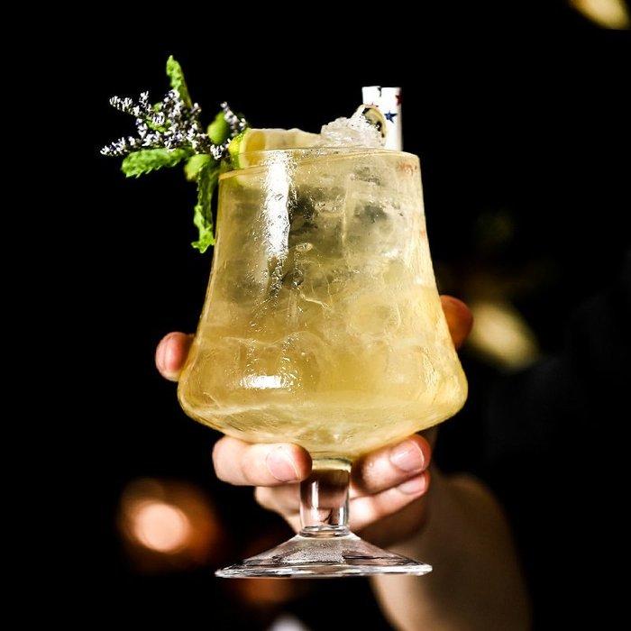 999玻璃杯 威士忌杯 酒杯 啤酒杯 酒吧 創意白蘭地杯雞尾酒杯 收腰矮腳杯 無鉛玻璃 威士忌酒杯 金湯力杯