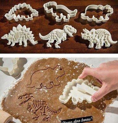 ~Tinny小舖(烘焙 雜貨)~侏羅紀時代恐龍化石餅乾模烘焙點心模具糖霜餅乾DIY兒童餅乾模具餅乾恐龍模霸王龍模具