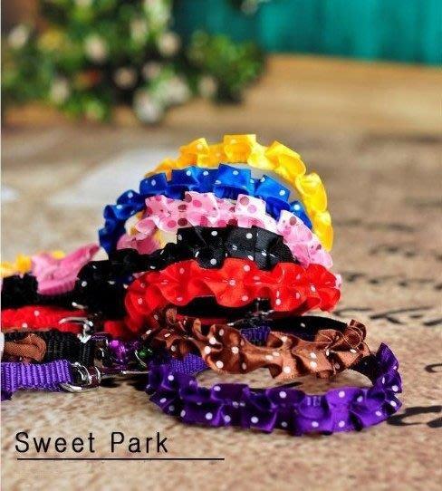 @我最便宜@翔仁寵物工坊~寵物精品百貨【典雅蝶花造型項圈組1.0】紫、黑、紅、藍4色