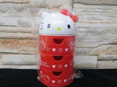 土城三隻米蟲 三麗鷗 凱蒂貓 hello kitty 三層 置物盒 收納盒 飾品盒