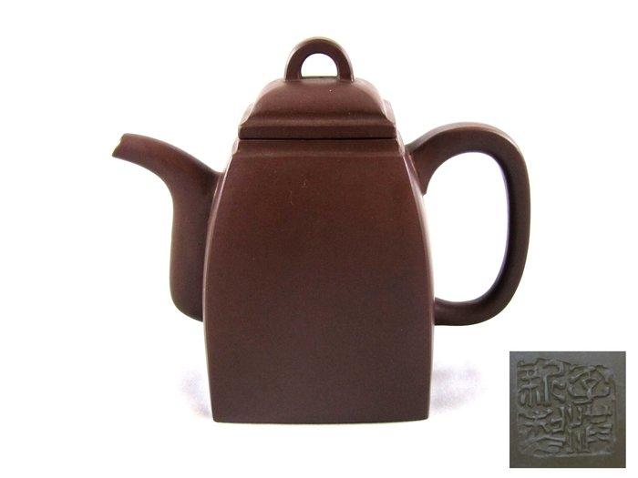 [[ 茶壺 ]] 紫砂 李滿新 漢方壺(No.49) 早期收藏,喜歡就帶走,老老東西