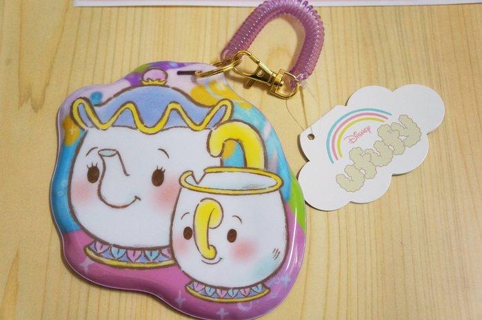 瘋日本*東京迪士尼STORE disney Ufufy 票卡夾 美女與野獸 茶壺媽媽 證件夾 車票夾