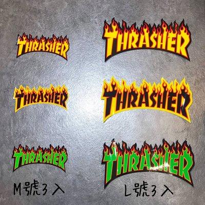 【Faithful】THRASHER FLAME Stricker Pack【THR001】貼紙包 L號 三入