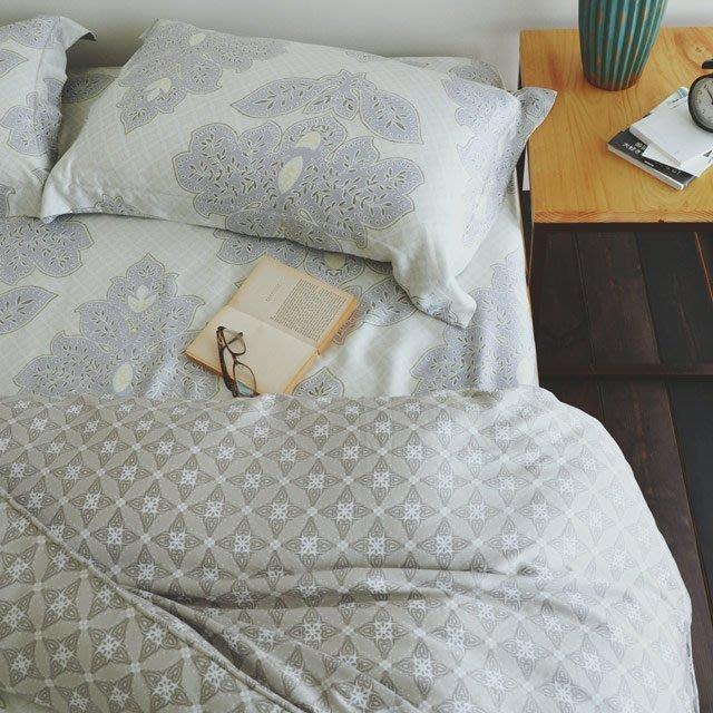天絲-薄床包鋪棉被套組【優雅園】(雙人5尺) -絲薇諾
