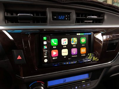 富馳汽車音響TOYOTA ALTIS改裝先鋒Pioneer AVH-Z9150BT 旗艦款WiFi 智慧車用影音主機