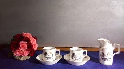 (店舖不續租清倉大拍賣)麥森Meissen奶茶罐五件一組,原價98000元特價49000元