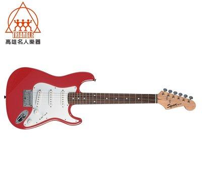 【名人樂器】2017 Squier AFFINITY MINI STRAT 紅色 電吉他