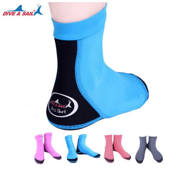 【購物百分百】新款1.5mm男女潛水襪 氯丁橡膠潛水襪 萊卡防滑防刮沙灘襪