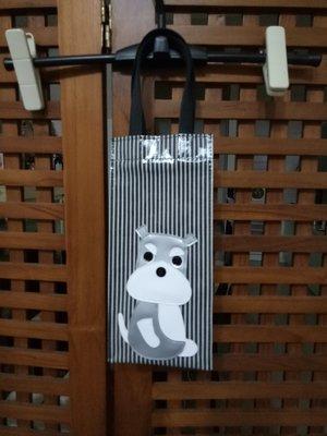 天使熊雜貨小舖~日本防水布水壺袋 星巴克隨行杯袋 (狗狗圖案)防水手提袋  全新現貨