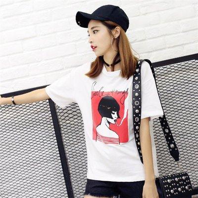 =EF依芙=韓國首爾 時尚精品 東大門同步 早班車7100 酷吧T恤 印花T恤 纯棉短袖個性T恤