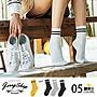 襪子 JerryShop【XHR1847】復古經典條紋中筒...