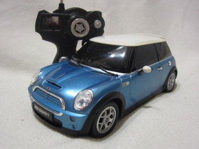 【KENTIM 玩具城】1:14 BMW MINI COOPER 藍色RASTAR遙控車