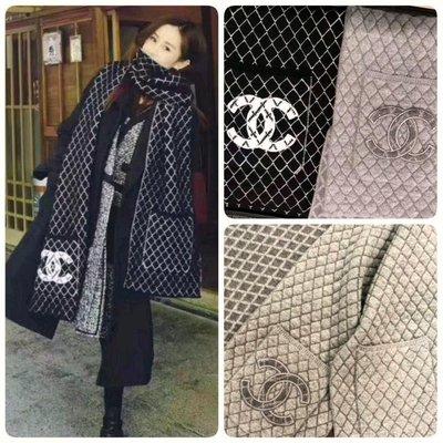 Chanel ❤️ 羊絨口袋圍巾