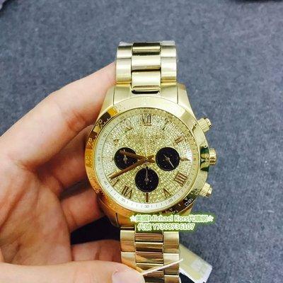 ☆美國Michael Kors代購網☆ MK手錶 熱銷奢華美鑽錶面黃金羅馬三眼腕錶 MK5830美國正品代購 附購證