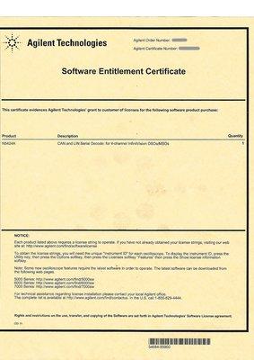 康榮科技二手測試儀器領導廠商Agilent N5424A CAN/LIN Serial Decode 軟體金鑰